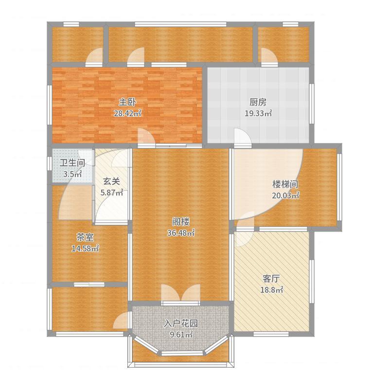 醴陵庙前别墅第二层-20171015修改版-副本户型图