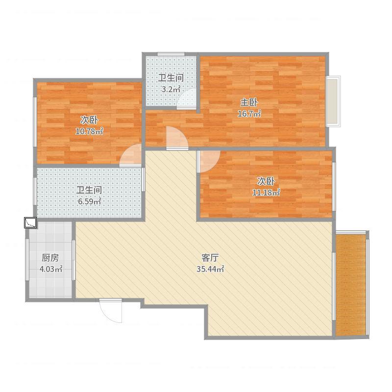 法姬娜7号楼1单元201户型图