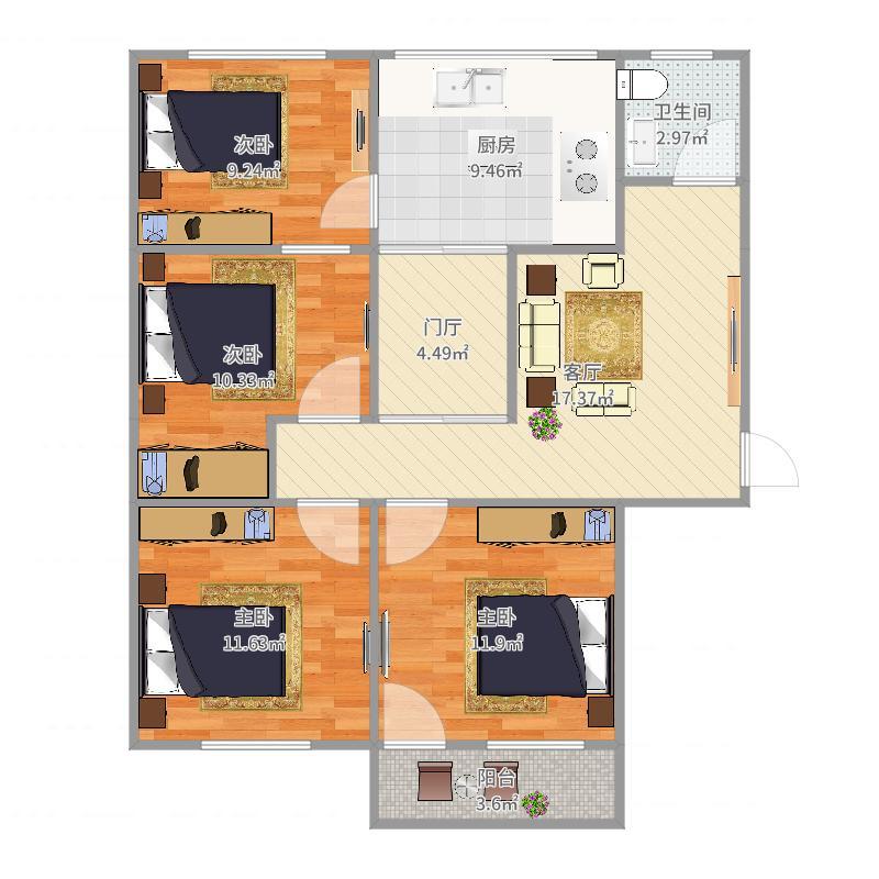 公安厅宿舍户型图