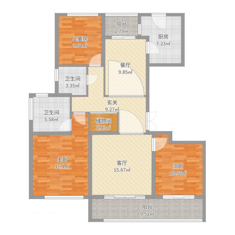 品质小区143方-副本-副本户型图