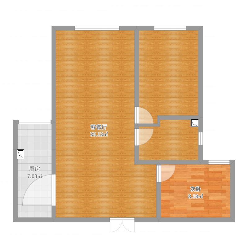 御景高层一号楼一单元1703-副本-副本户型图