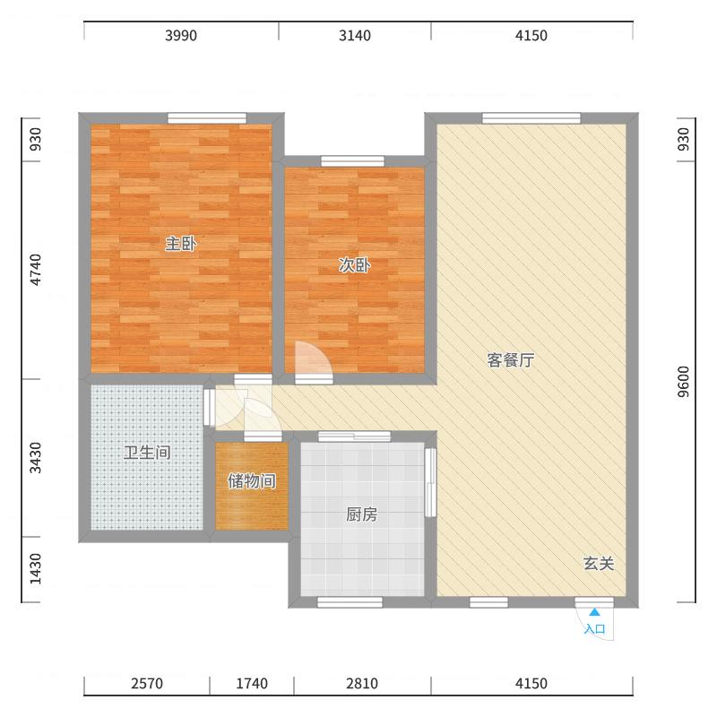 绿洲春城125平户型图