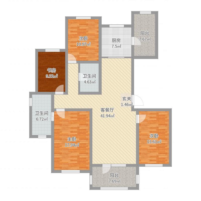慧谷蓝庭161户型图