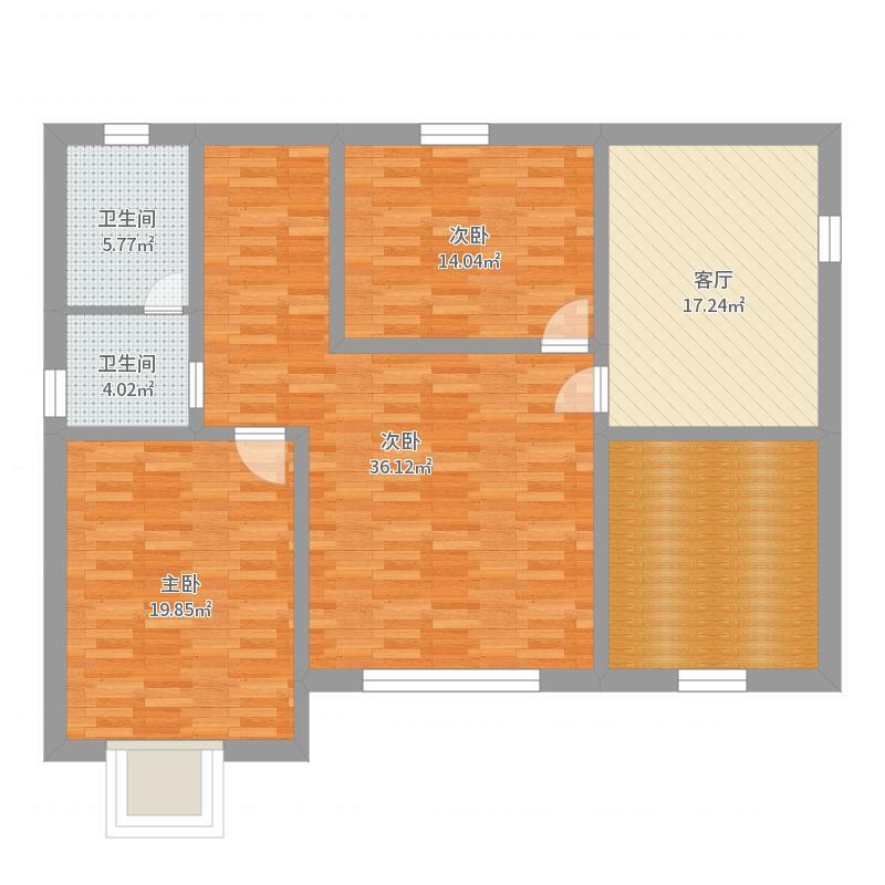 二层之二层-带门厅户型图