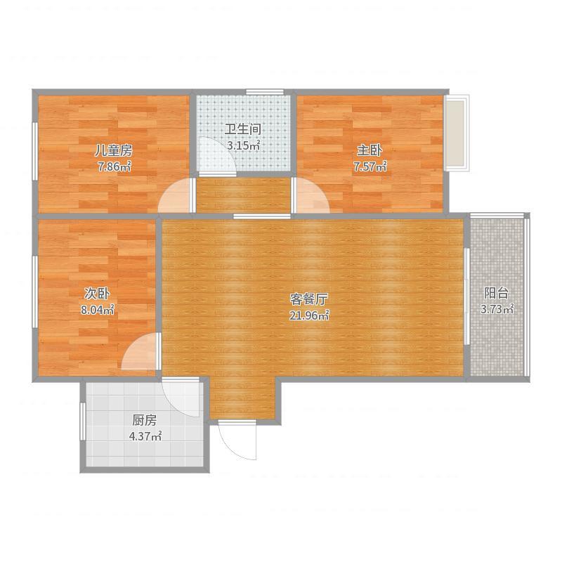 豪华设计包91㎡合肥中海滨湖公馆户型图
