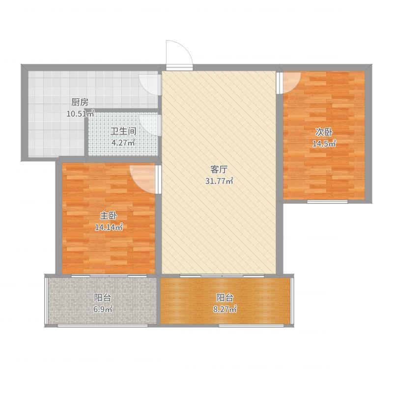 现代简约上饶市鄱阳达江中央城122平全屋墙布户型图