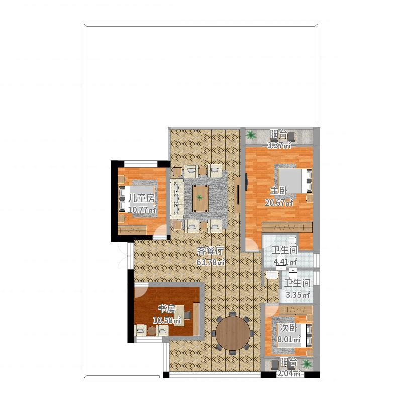 一层住宅图-副本户型图