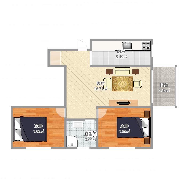 亚特兰17楼2单元1503户型图