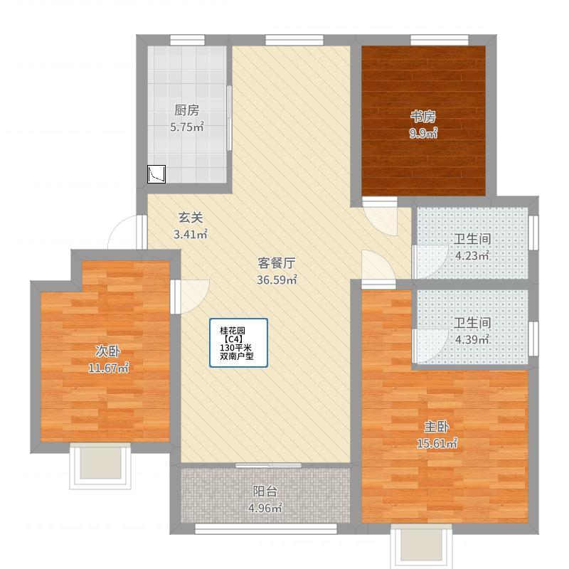 鑫江桂花园户型图