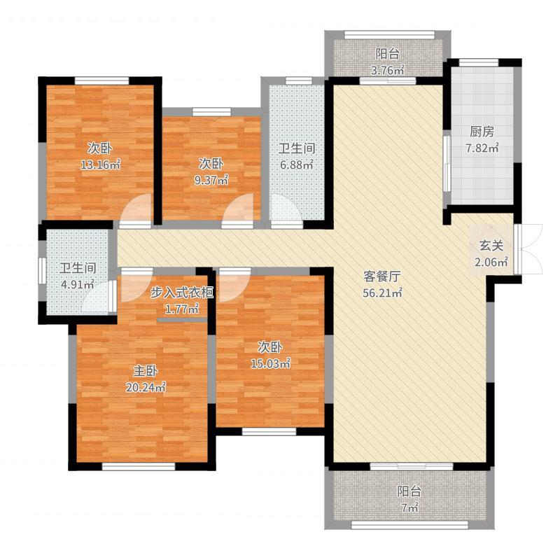 建业桂园户型图