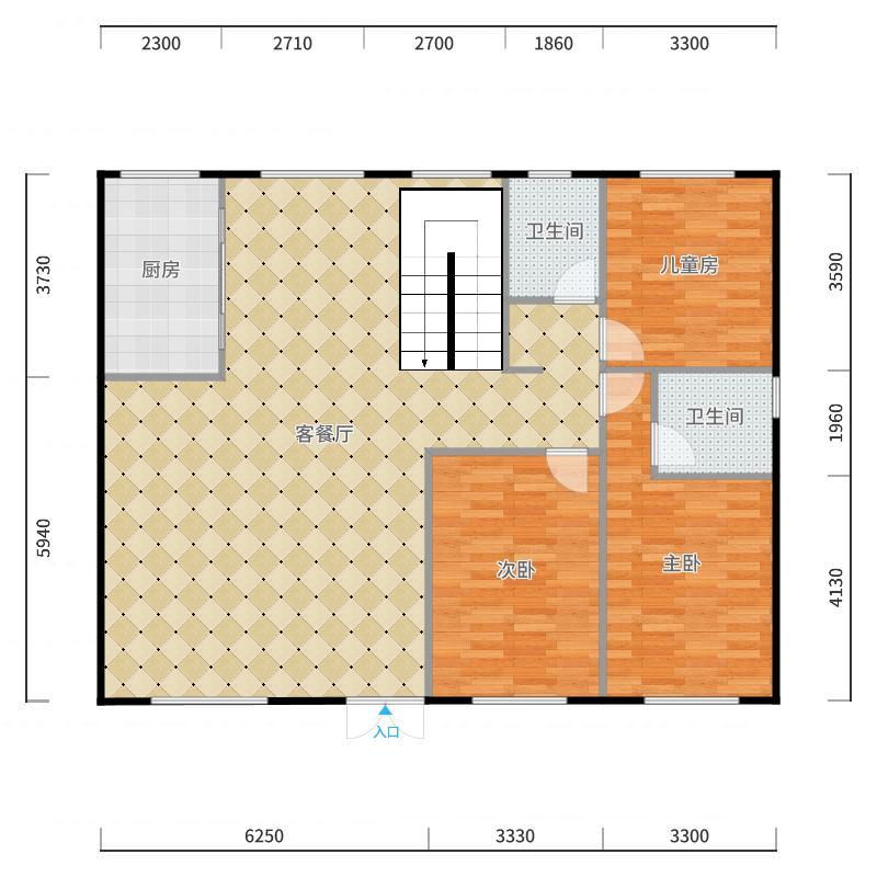 自建房2户型图