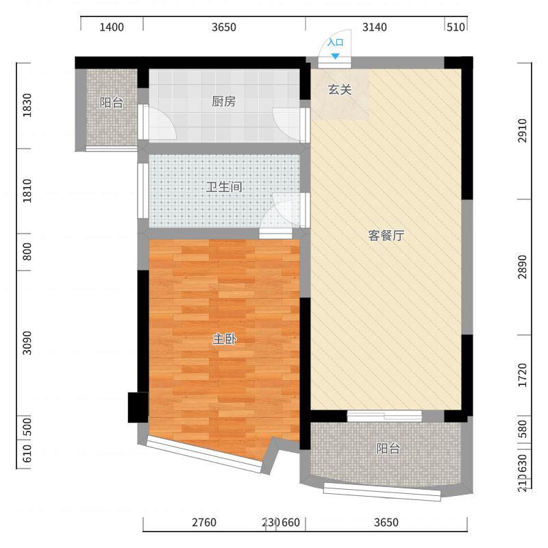 中威国际公寓户型图