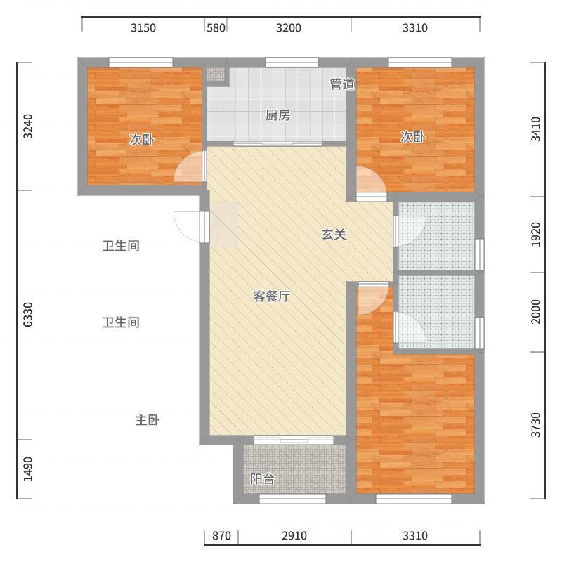 前钢公寓户型图