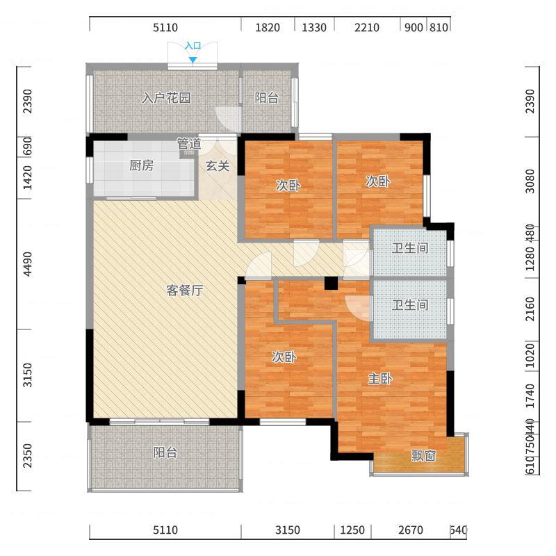 中央公馆海德堡户型图