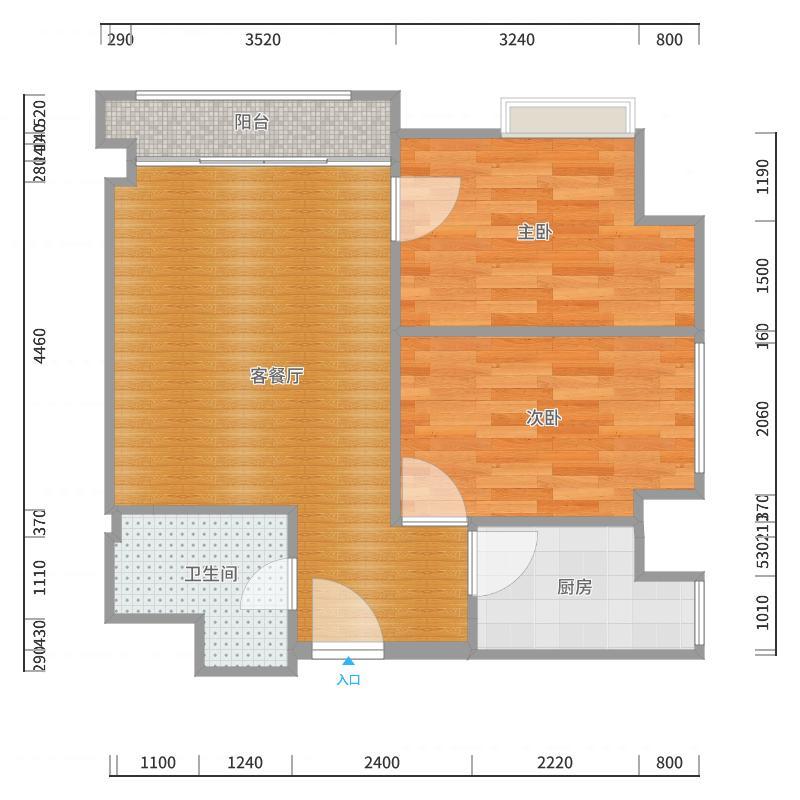 宝龙城市广场装修设计方案户型图