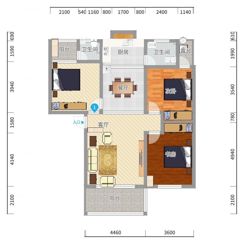 芷江富华A5101室唐峰-副本-副本户型图