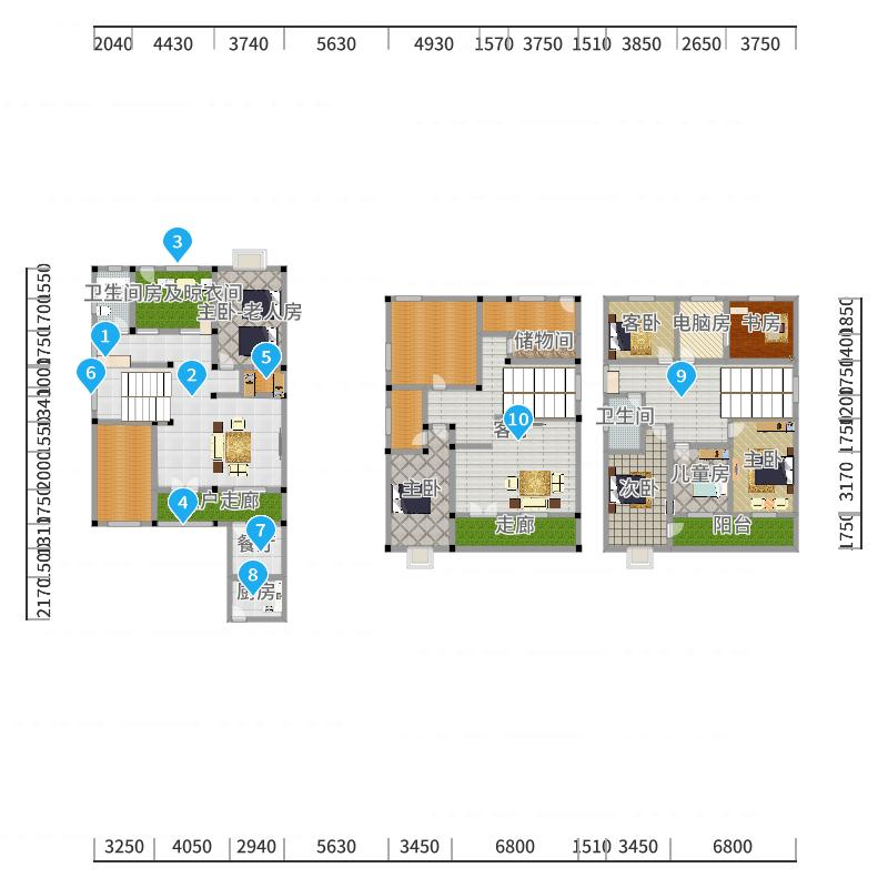 B方案(厨房餐厅独立)-副本户型图