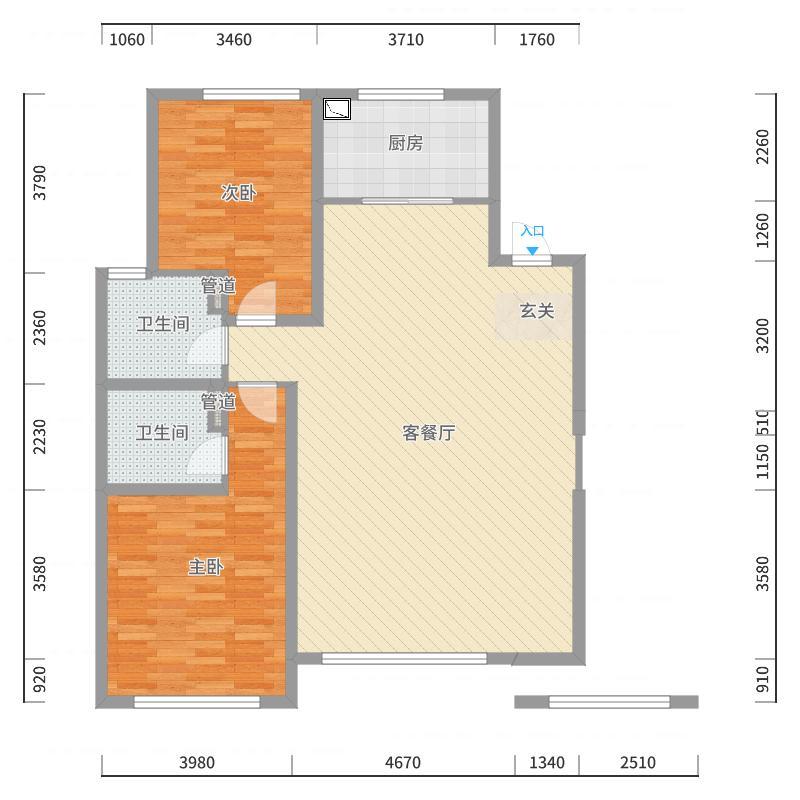 淄博绿城・百合花园141.00㎡二期2、3、4、5、6#楼标准层D1户型3室3厅2卫1厨户型图