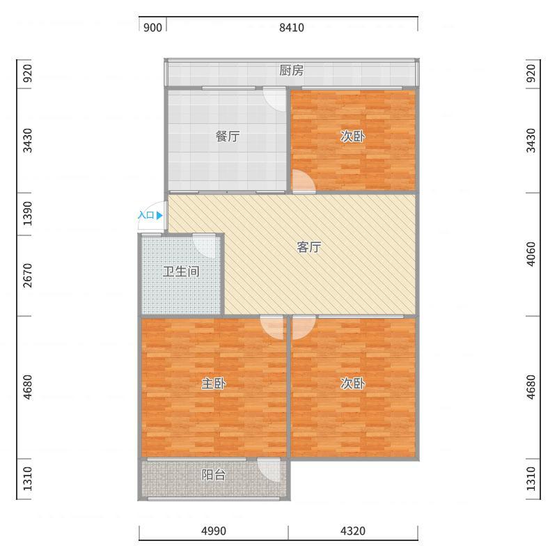 富康街4-2-201户型图