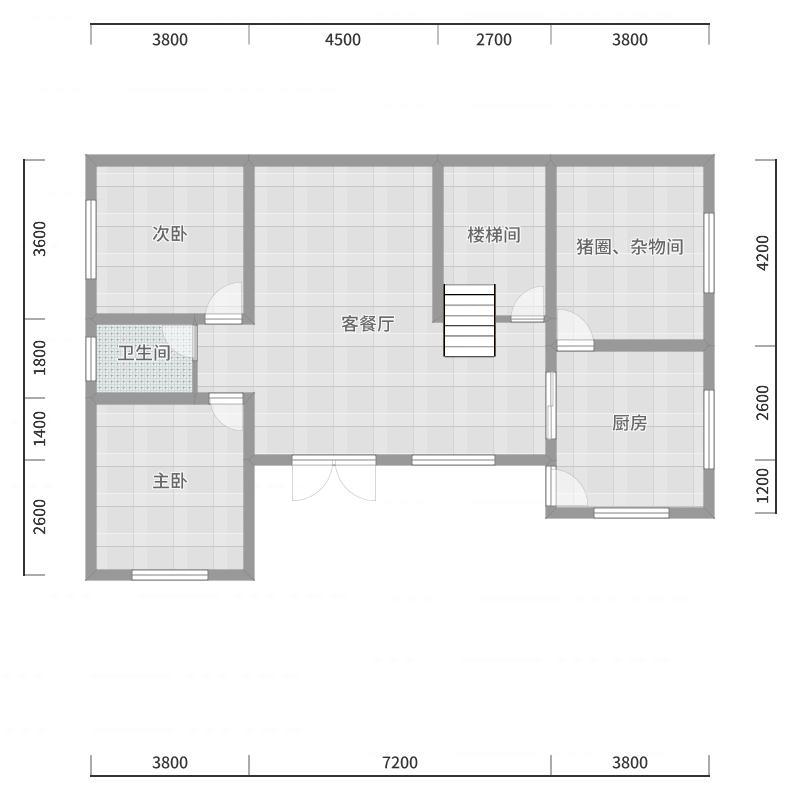 1楼平面图A3版户型图