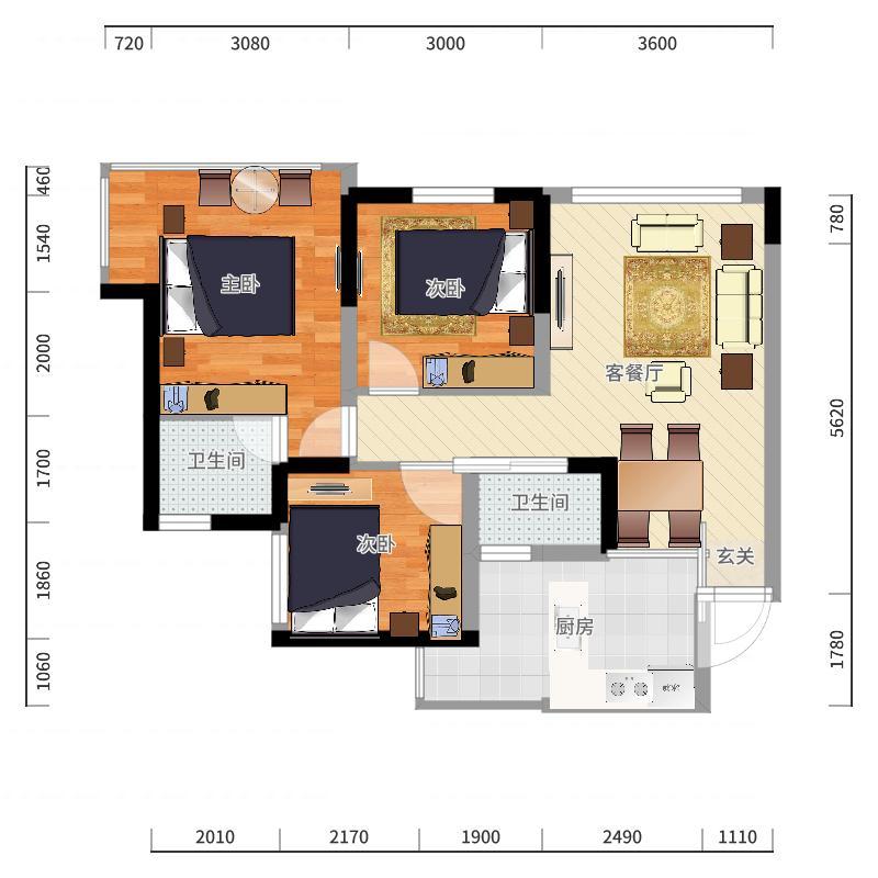 龙玺台住宅户型图