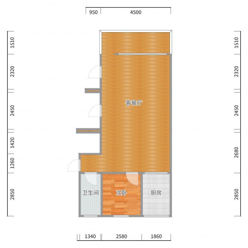 闽南私房菜旁三楼自建房吴总-二级顶户型图