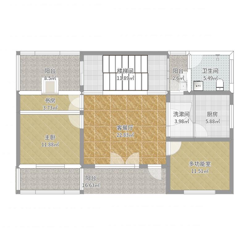 小而美农村自建两层-一楼布局-副本户型图