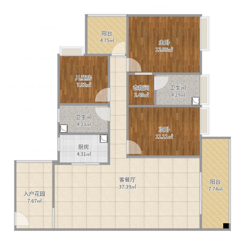 富力城二期B26-1004户型图