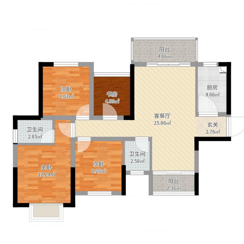 长沙_紫华郡_2017-10-19-0909户型图