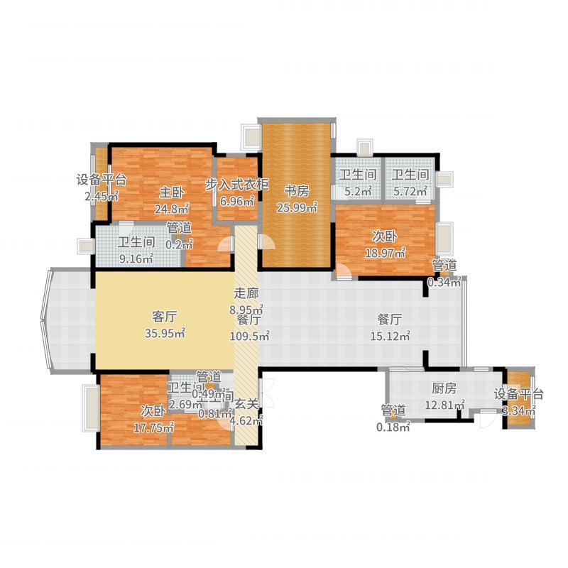 雅居乐中心广场户型图