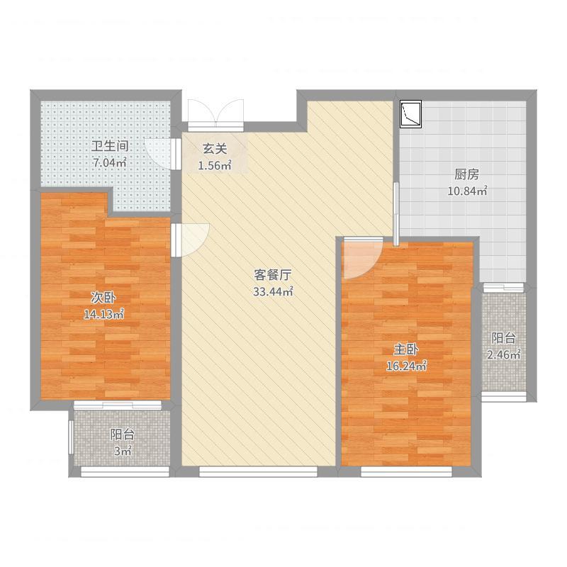 华中国宅华园户型图