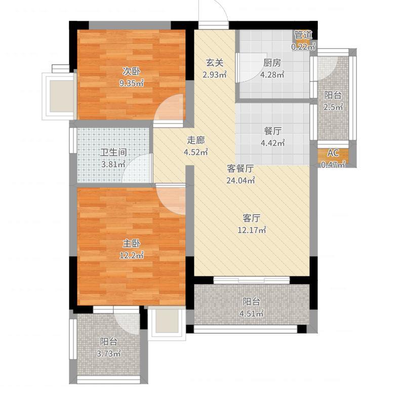 泽科港城国际一期1栋3、4号房户型户型图