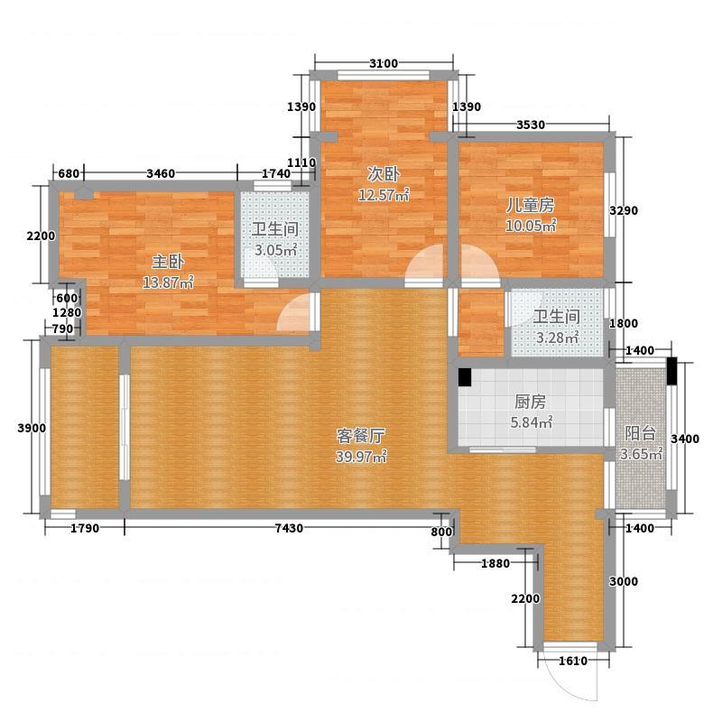 滨河家园6栋1301户型图