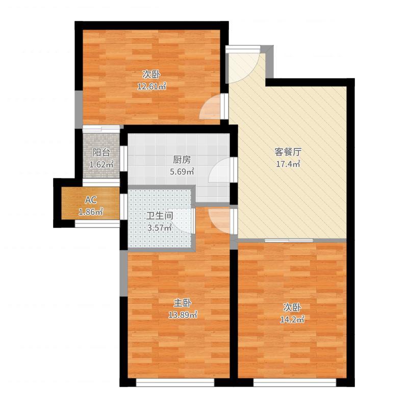 群贤道九号小房子户型图