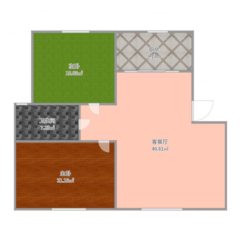 契丹公馆B区103平户型图