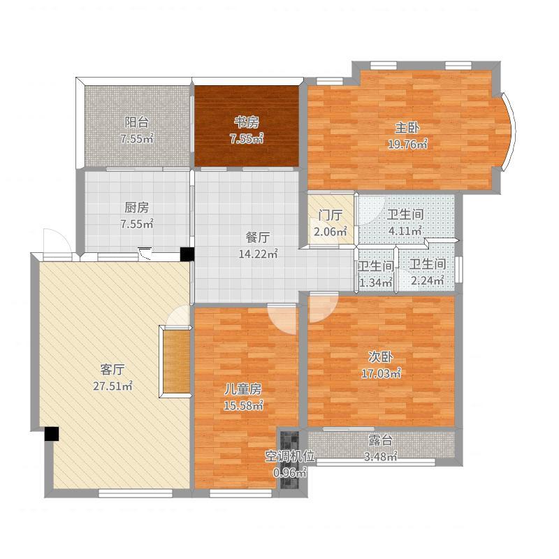 TLL-1楼-渲染户型图