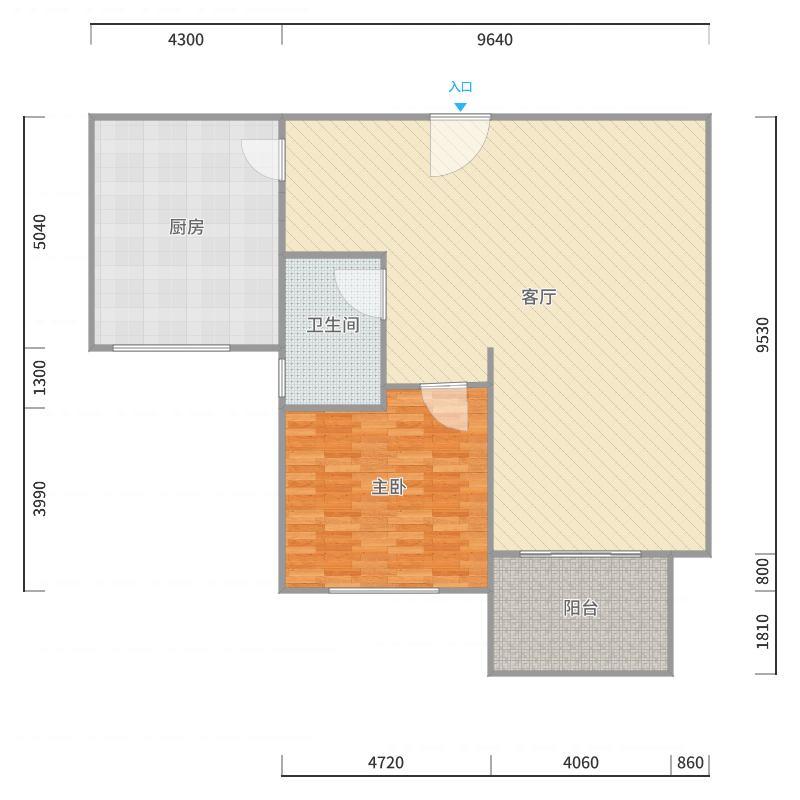 世欧澜山122复式单层户型户型图