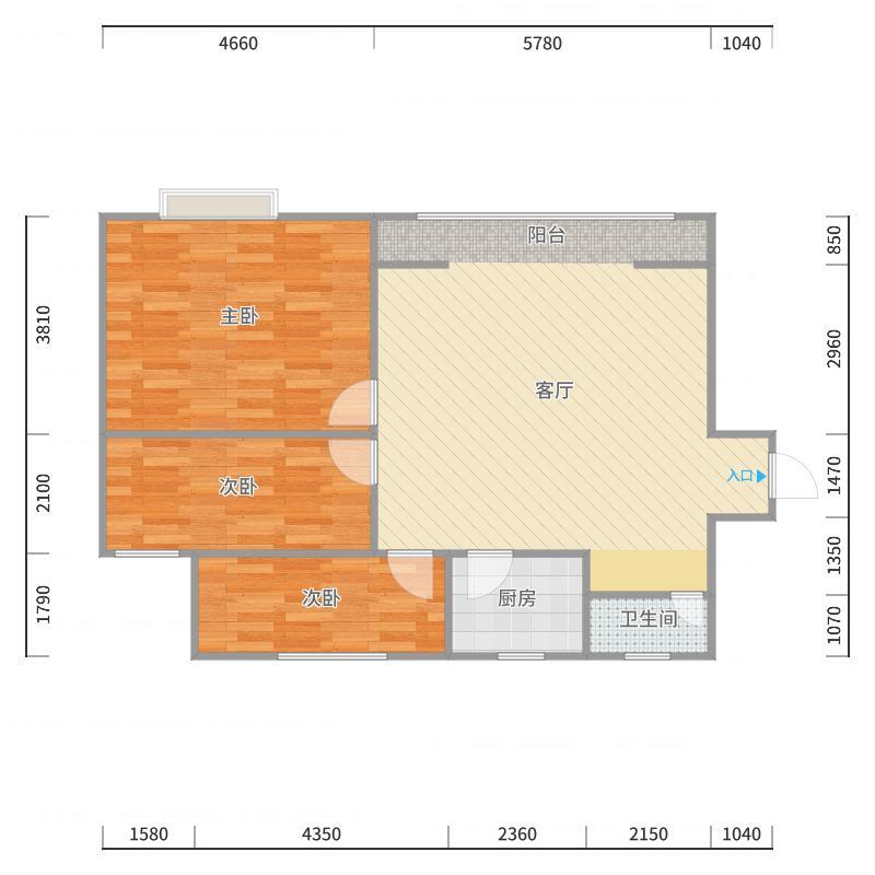 新河苑一期16幢2单元1805户型图