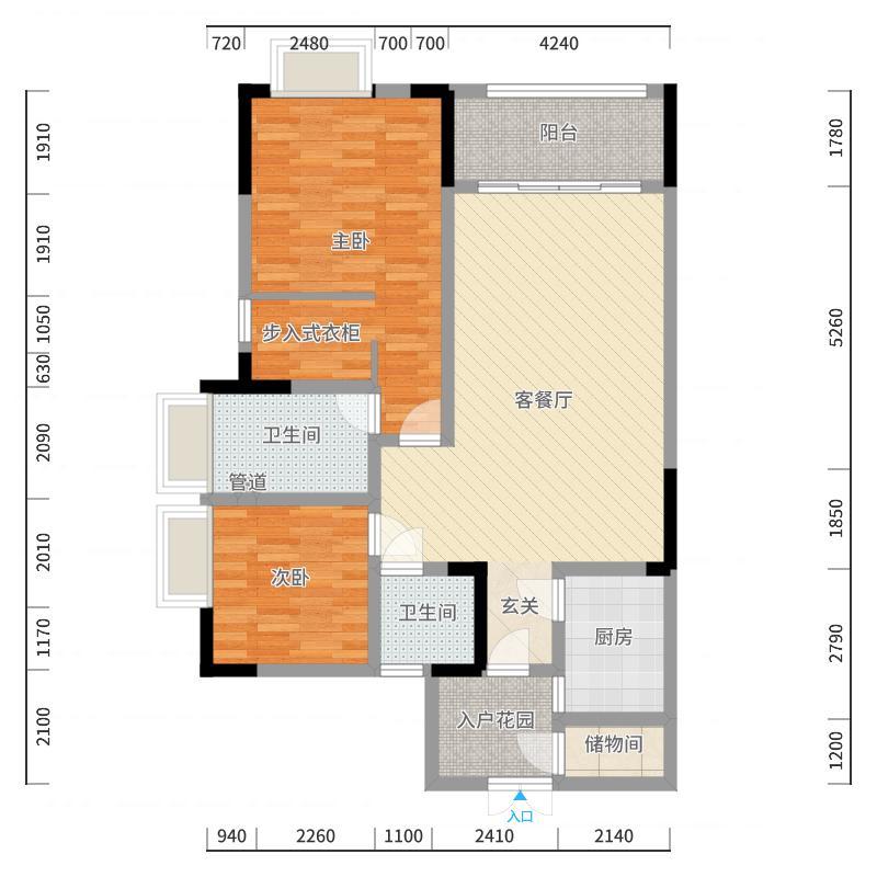重庆佳程广场户型图
