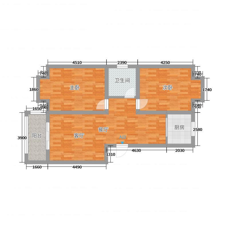 锦绣水岸12号楼1单元102户型图