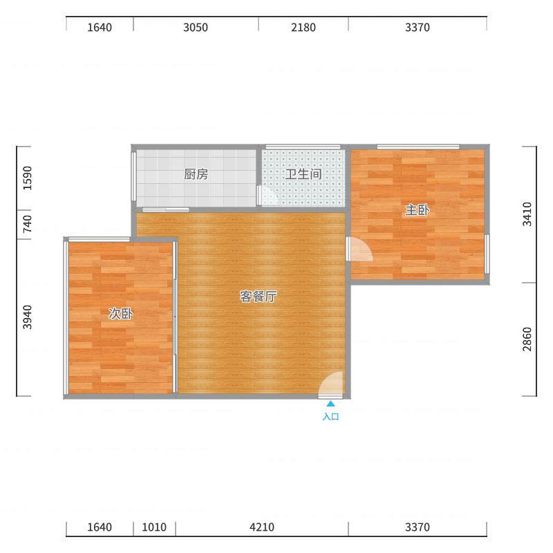 南岸路2号之七8楼户型图