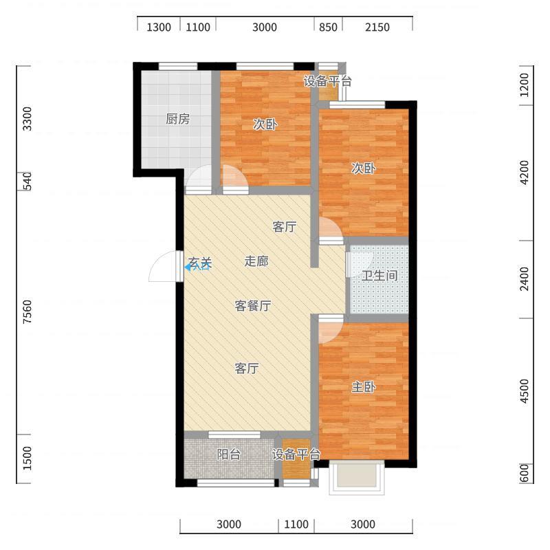 唐山_金港花园_2017-10-20-1724户型图