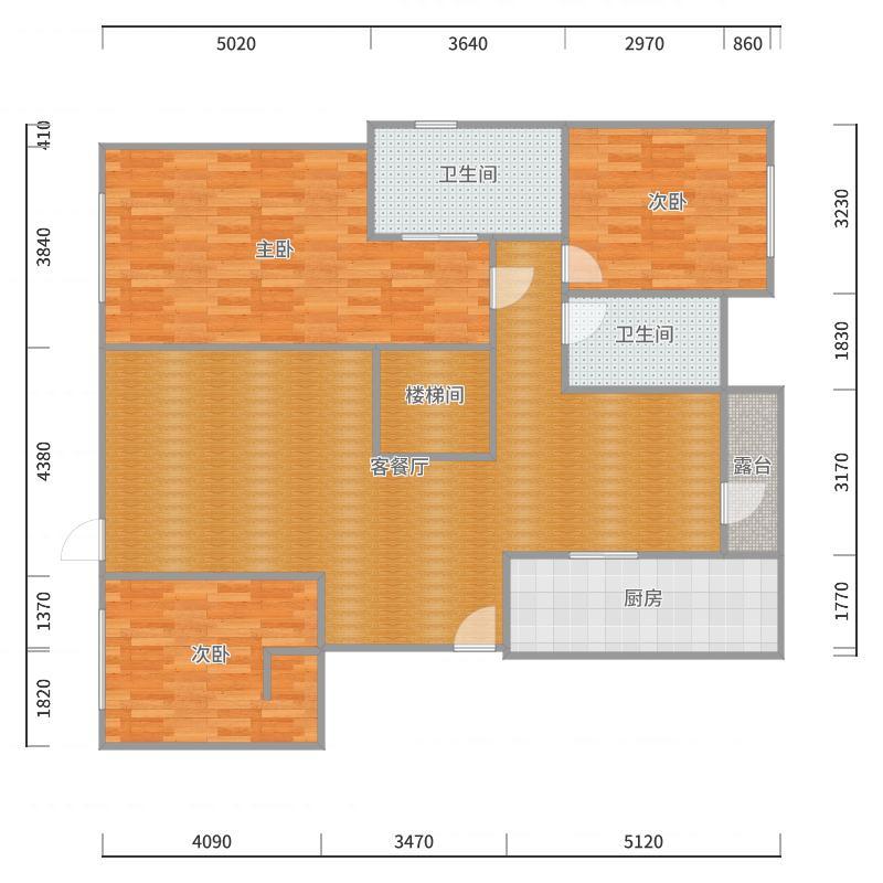 115-2跃层6~7层(6层)户型图