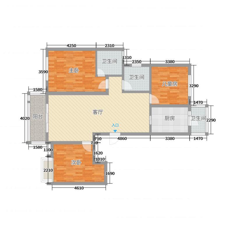 华邦国际15幢1702户型图