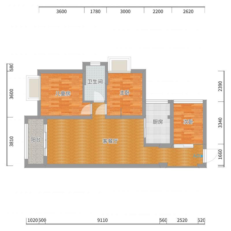 武广国际1-1509户型图