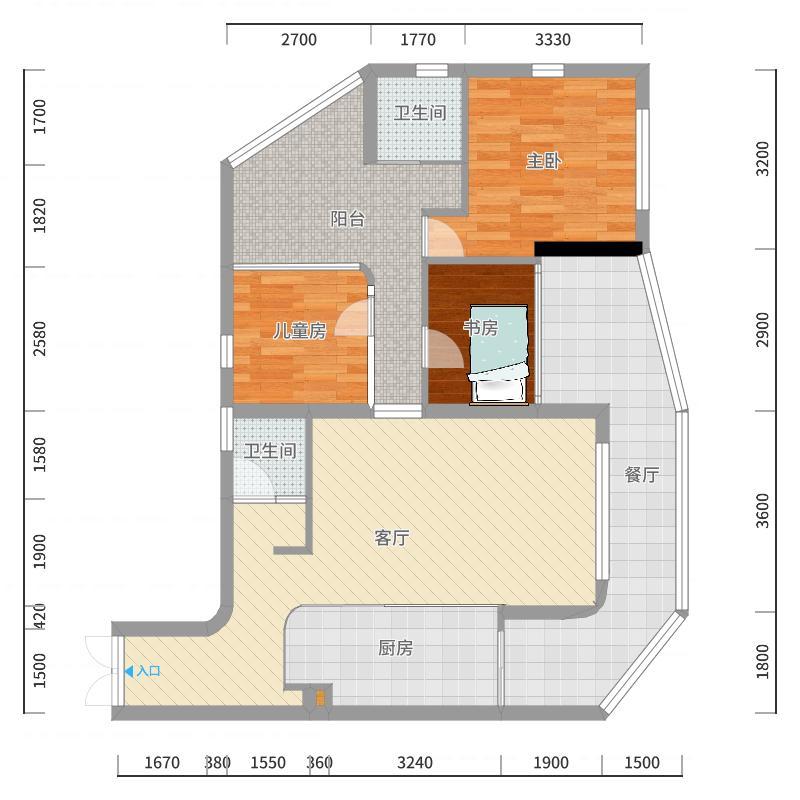 阳台改动最终版-副本-副本户型图