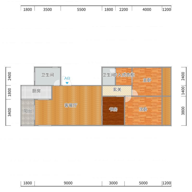 言程路私房户型图