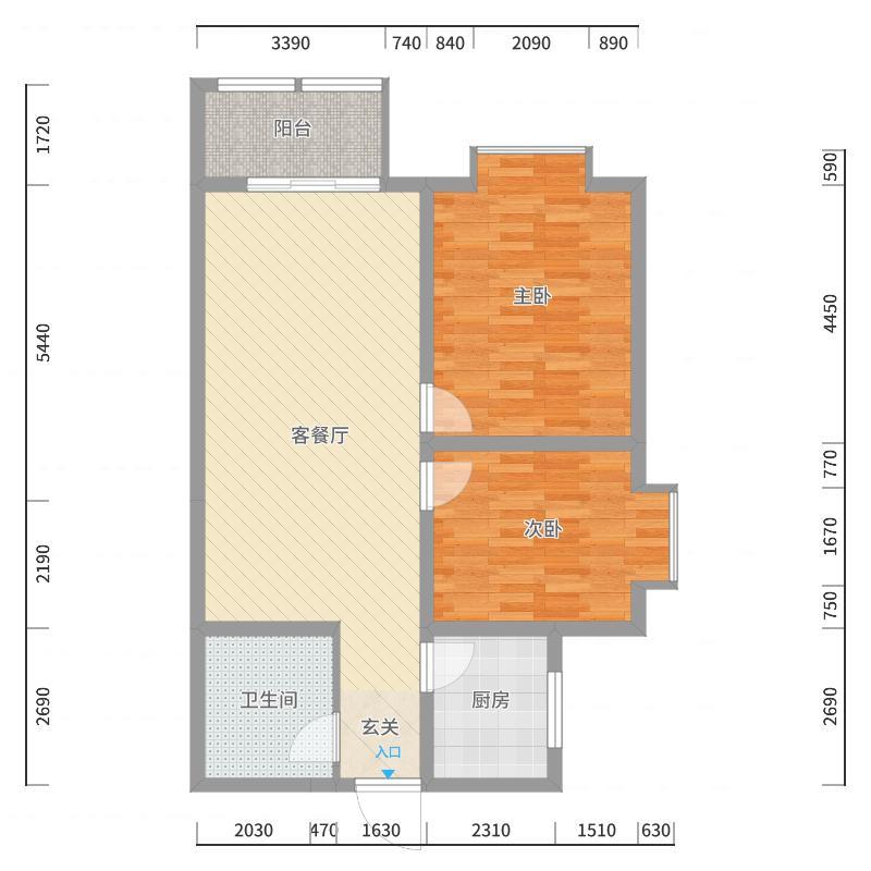咸阳_塞纳绿洲_2017-10-20-2110户型图