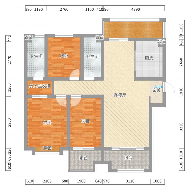 银盛泰浪琴海128-副本户型图