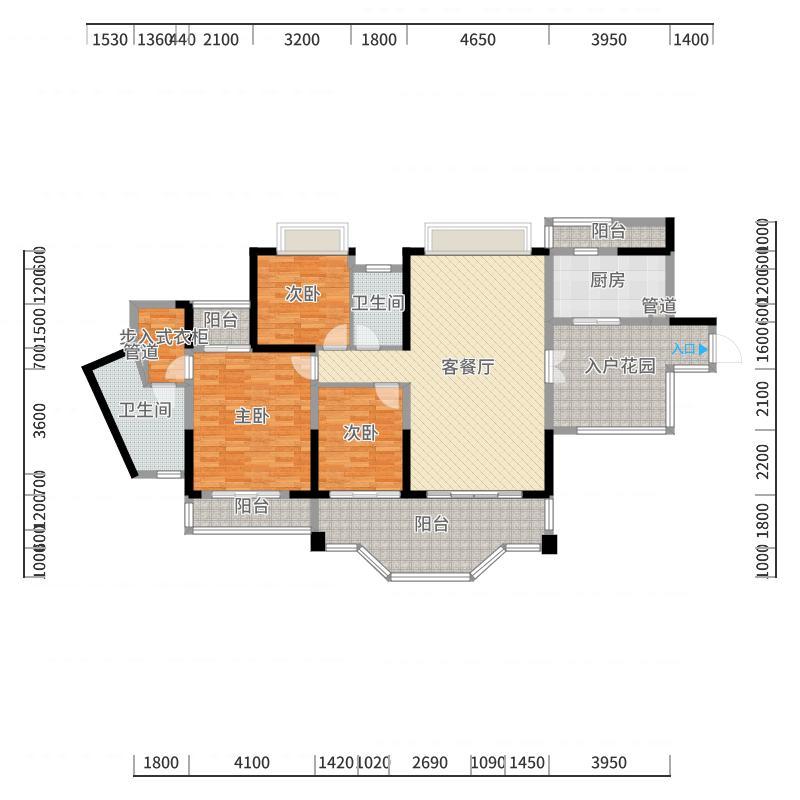 观澜湖新城商业小镇X18-C1户型-副本户型图